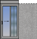Single horizontal sliding pocket sash with fly-screen and rolling shutter